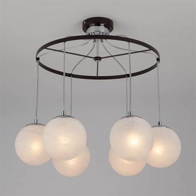 Подвесной светильник Eurosvet 70069/6 хром/черный - фото 558633