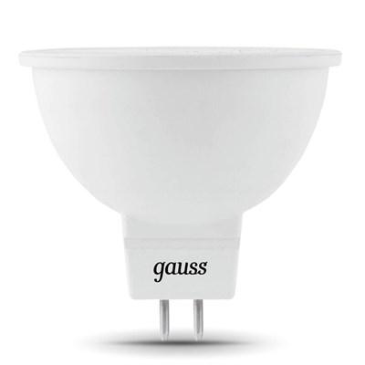 Лампа светодиодная Gauss GU5.3 5W 3000K матовая 101505105 - фото 618518