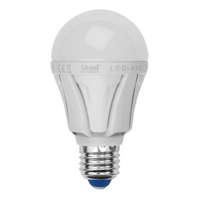 Лампа светодиодная (UL-00001522) Uniel E27 8W 3000K матовая LED-A60 8W/WW/E27/FR PLP01WH - фото 618558