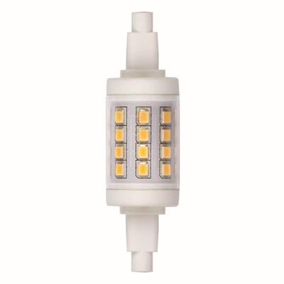 Лампа светодиодная (UL-00001554) Uniel R7s 6W 3000K прозрачная LED-J78-6W/WW/R7s/CL PLZ06WH - фото 618618
