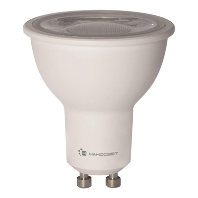 Лампа светодиодная Наносвет GU10 8W 2700K прозрачная LH-MR16-8/GU10/927/38D L286 - фото 618655