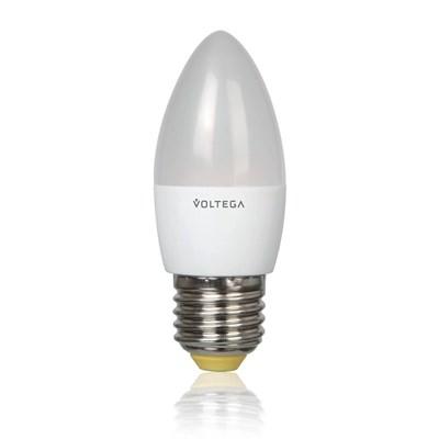 Лампа светодиодная Voltega E27 5.4W 4000К матовая VG4-C2E27cold5W 5744 - фото 618683