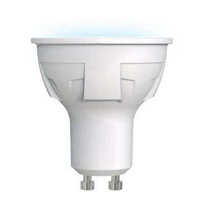 Лампа светодиодная (UL-00002421) Uniel GU10 6W 4000K матовая LED-JCDR 6W/NW/GU10/FR PLP01WH - фото 618724