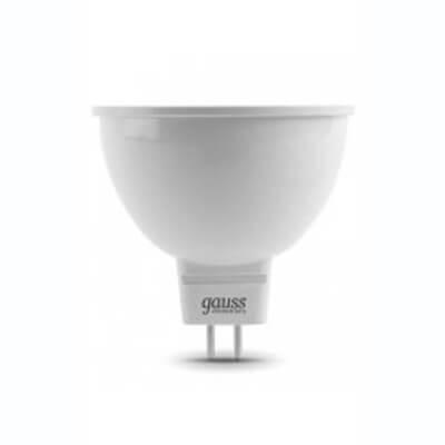Лампа светодиодная Gauss GU5.3 7W 6500K матовая 13537 - фото 618785