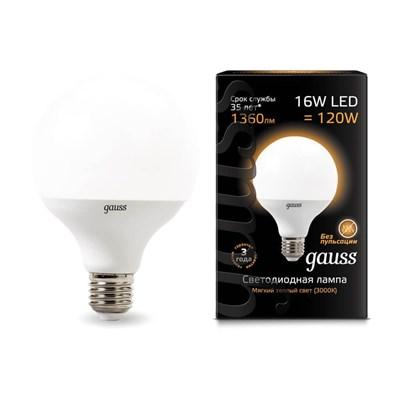 Лампа светодиодная Gauss E27 16W 3000K матовая 105102116 - фото 618851