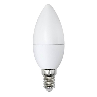Лампа светодиодная (UL-00003804) E14 9W 3000K матовая LED-C37-9W/WW/E14/FR/NR - фото 618897