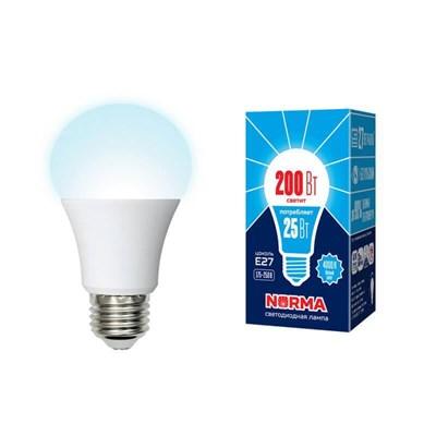 Лампа светодиодная (UL-00004470) E27 25W 4000K матовая LED-A70-25W/4000K/E27/FR/NR - фото 618992