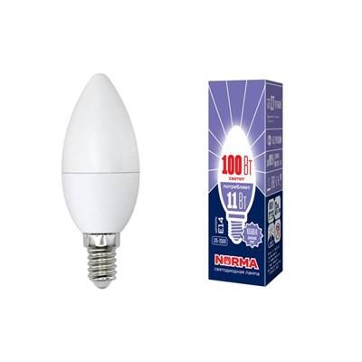 Лампа светодиодная (UL-00003810) E14 11W 6500K матовая LED-C37-11W/DW/E14/FR/NR - фото 619025