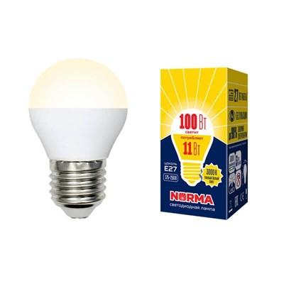 Лампа светодиодная (UL-00003835) E27 11W 3000K матовая LED-G45-11W/WW/E27/FR/NR - фото 619040