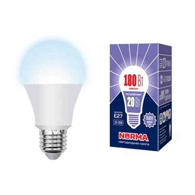 Лампа светодиодная (UL-00004028) E27 20W 6500K матовая LED-A65-20W/DW/E27/FR/NR - фото 619044