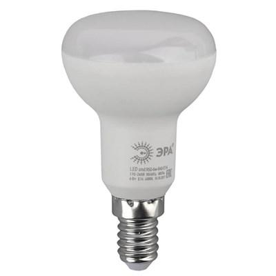 Лампа светодиодная ЭРА E14 6W 4000K матовая LED R50-6W-840-E14 Б0020556 - фото 619170