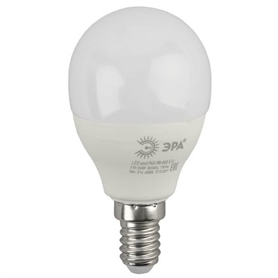 Лампа светодиодная ЭРА E14 9W 6000K матовая LED P45-9W-860-E14 Б0031411 - фото 619258