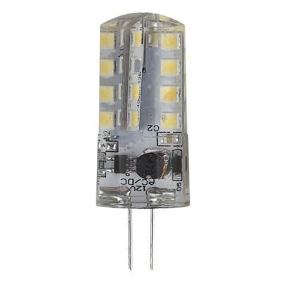 Лампа светодиодная ЭРА G4 3W 4000K прозрачная LED JC-3W-12V-840-G4 Б0033194 - фото 619651