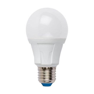 Лампа светодиодная (UL-00005036) Uniel E27 18W 3000K матовая LED-A60 18W/3000K/E27/FR PLP01WH - фото 619917