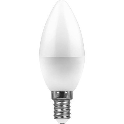 Лампа светодиодная Feron E14 11W 4000K Свеча Матовая LB-770 25942 - фото 619947