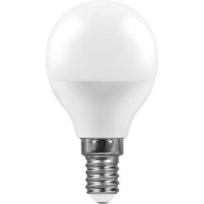 Лампа светодиодная Feron E14 11W 4000K Шар Матовая LB-750 25947 - фото 619949