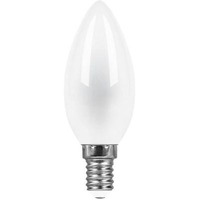 Лампа светодиодная Feron E14 9W 4000K Свеча Матовая LB-73 25957 - фото 619999