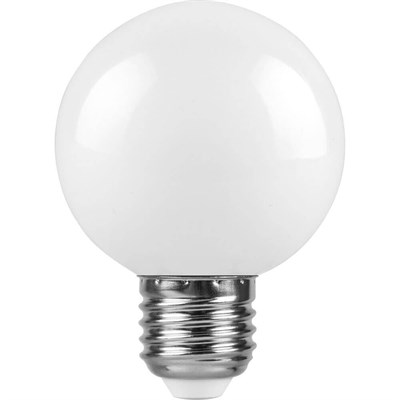Лампа светодиодная Feron E27 3W 6400K Шар Матовая LB-37125902 - фото 620038