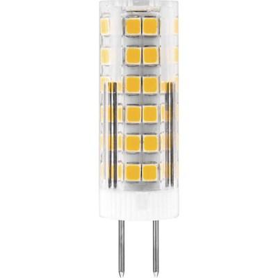 Лампа светодиодная Feron G4 7W 6400K Прямосторонняя Матовая LB-433 25865 - фото 620122