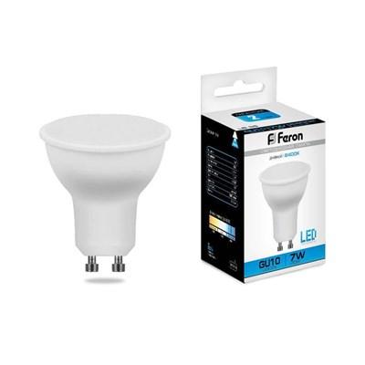Лампа светодиодная Feron GU10 7W 6400K Грибок матовая LB-26 25291 - фото 620160