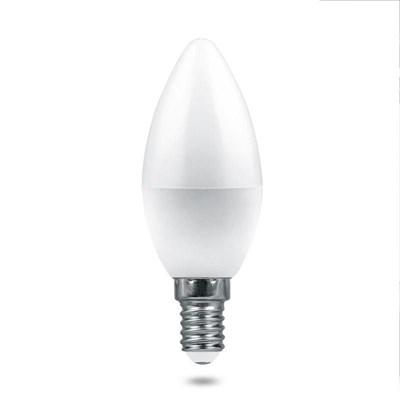 Лампа светодиодная Feron E14 7,5W 4000K Матовая LB-1307 38054 - фото 620821