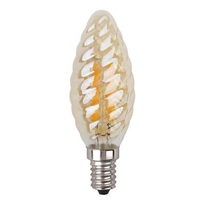 Лампа светодиодная ЭРА E14 9W 2700K золотая F-LED BTW-9W-827-E14 gold Б0047011 - фото 620885