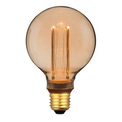 Лампа светодиодная Hiper E27 4W 1800K янтарная HL-2229 - фото 621519