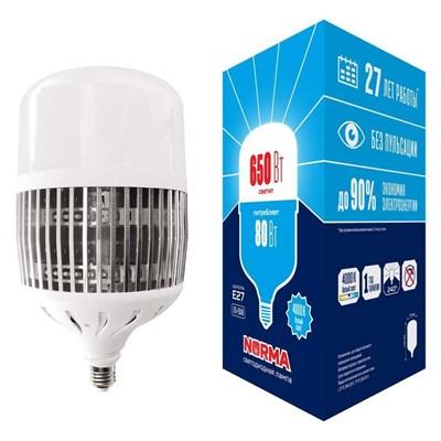 Лампа LED сверхмощная (UL-00006795) Volpe E27 80W (650W) 4000K матовая LED-M80-80W/4000K/E27/FR/NR - фото 621552