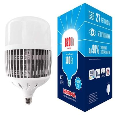Лампа LED сверхмощная (UL-00006797) Volpe E27 100W (820W) 4000K матовая LED-M80-100W/4000K/E27/FR/NR - фото 621554