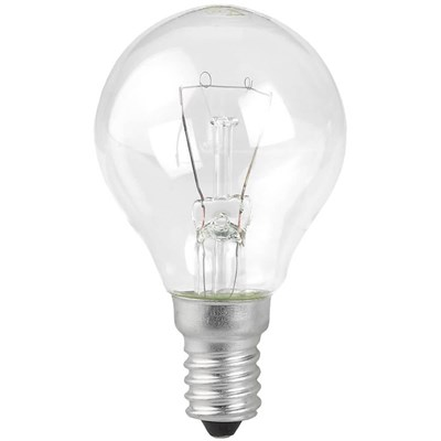 Лампа накаливания ЭРА E14 60W 2700K прозрачная P45-60W-E14/ДШ 230-60 Е 14 (гофра) Б0033704 - фото 621705
