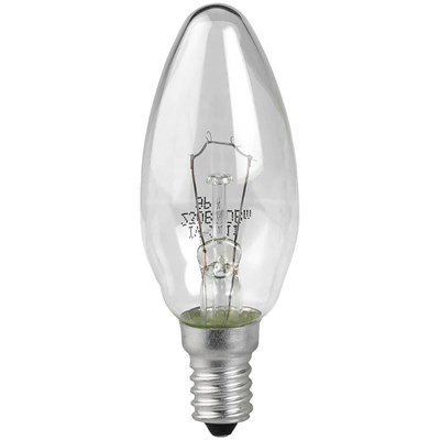 Лампа накаливания ЭРА E14 60W 2700K прозрачная ЛОН ДС60-230-E14-CL C0039812 - фото 621717