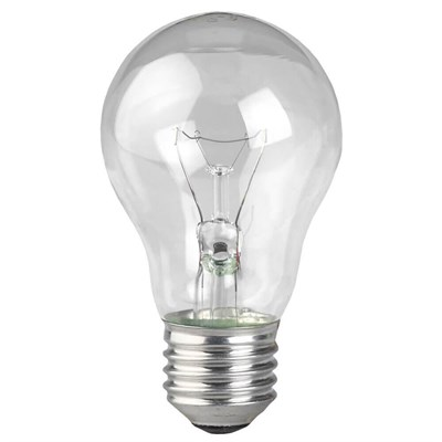 Лампа накаливания ЭРА E27 75W 2700K прозрачная ЛОН А55/А50-75-230-E27-CL C0039809 - фото 621771