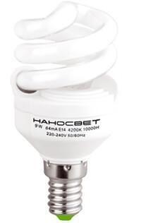 Лампа энергосберегающая Наносвет E14 9W 2700K матовая ES-SPU09/E14/827 E079 - фото 621788