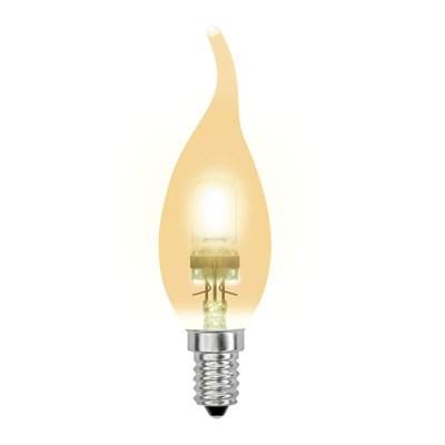 Лампа галогенная (04121) Uniel E14 42W золотая HCL-42/CL/E14 flame gold - фото 621832