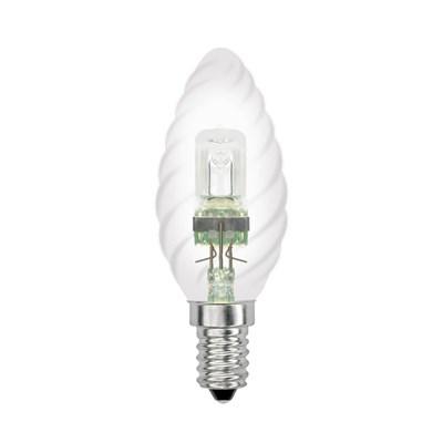 Лампа галогенная (04112) Uniel Е14 28W прозрачная HCL-28/CL/E14 Candle Twisted - фото 621833
