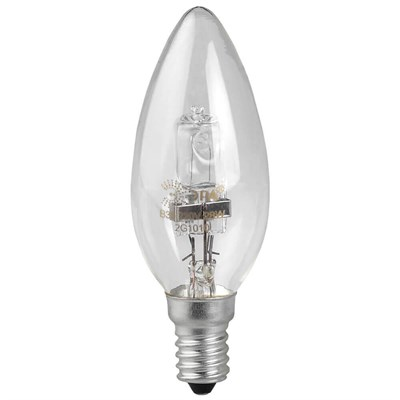 Лампа галогенная ЭРА E27 42W 2700K прозрачная HAL-B35-42W-230V-E14-CL C0038551 - фото 621847