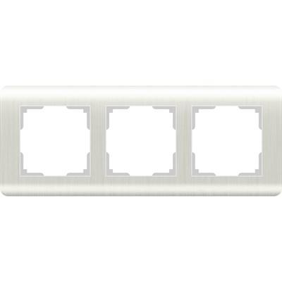 Рамка Werkel Stream на 3 поста перламутровый WL12-Frame-03 4690389123023 - фото 634128