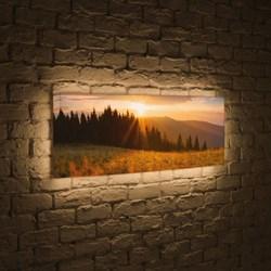 Лайтбокс панорамный Летний лес 35x105-p015