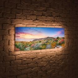 Лайтбокс панорамный Цветы на закате 45x135-p002