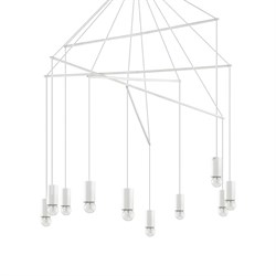 Подвесная люстра Ideal Lux Pop SP10 Bianco 186801