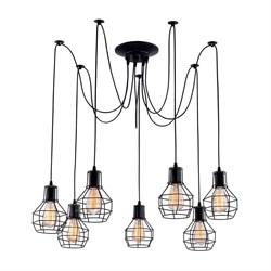 Подвесная люстра Arte Lamp A1109SP-7BK