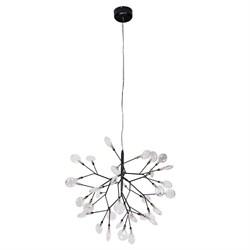 Подвесная люстра Crystal Lux Evita SP36 Black/Transparent