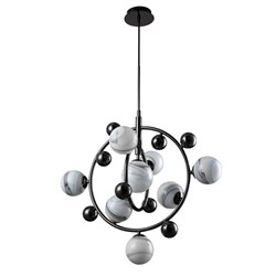 Подвесная люстра Crystal Lux Salvadore SP8V Black Chromium