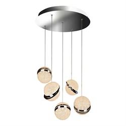 Подвесная светодиодная люстра iLedex CRystal Ball C4474-5R CR