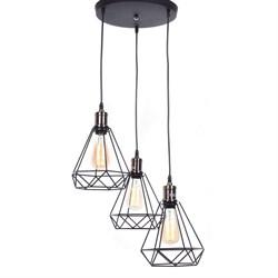 Подвесная люстра Lumina Deco Cobi LDP 11609-3 BK