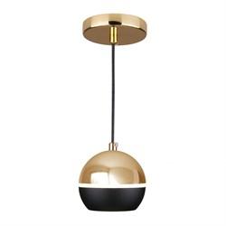 Подвесной светодиодный светильник Elektrostandard DLS023 9W 4200K черный/золото 4690389149146