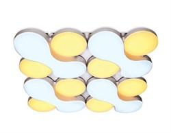 Потолочный светодиодный светильник Ambrella light Orbital Granule FG1066/4 WH 208W D720*720