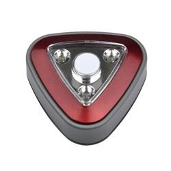 Настенный светодиодный светильник Uniel Пушлайт DTL-356 Треугольник/Red/3LED/3AAA UL-00001987