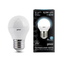 Лампа светодиодная Gauss E27 6.5W 4100K матовая 105102207