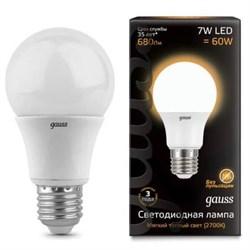 Лампа светодиодная Gauss E27 7W 3000K матовая 102502107
